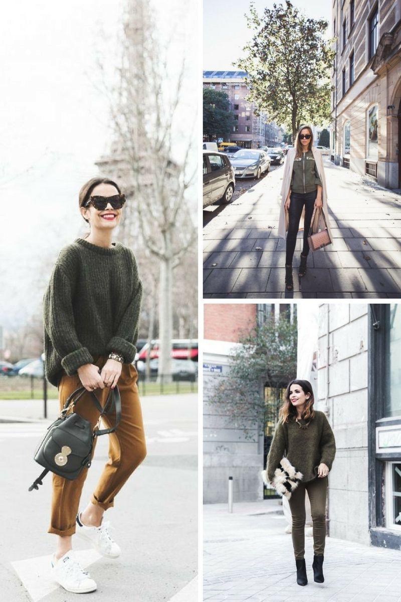 Trendige Herbst Outfits Damen - Military Grün ist diesen Herbst angesagt