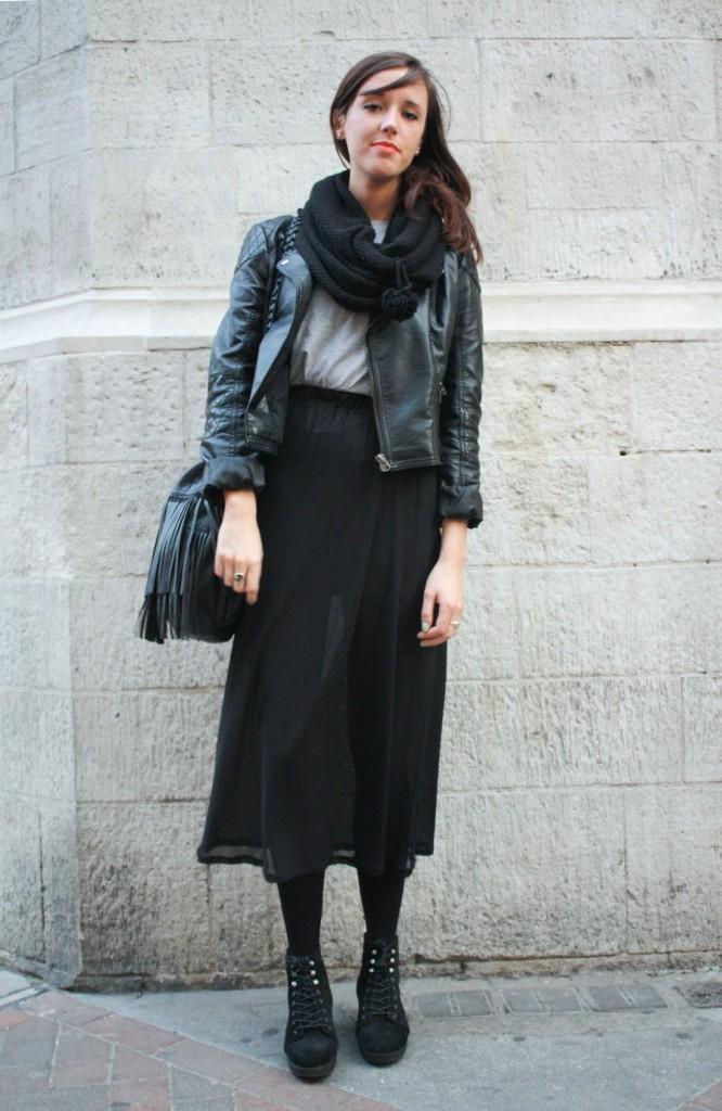 Herbst Outfits Frauen - Schwarz liegt immer in Mode