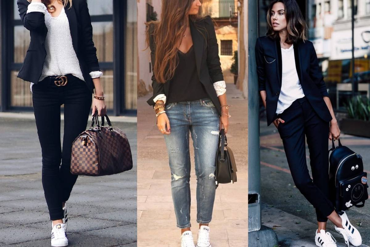 Herbst Outfits Damen mit Sneakers