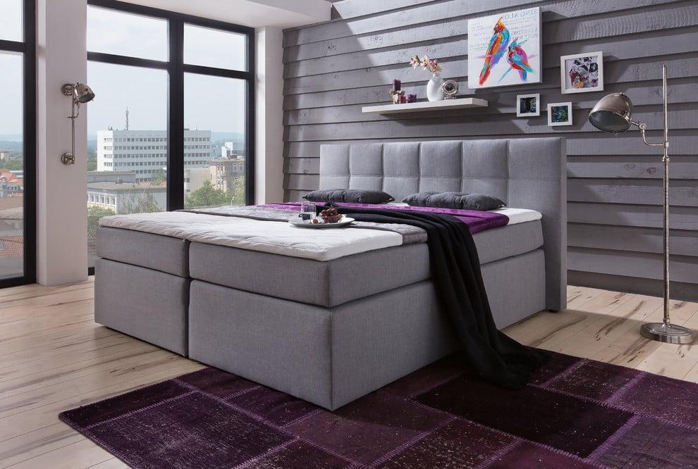 Boxspringbett für ein skandinavisches Schlafzimmer