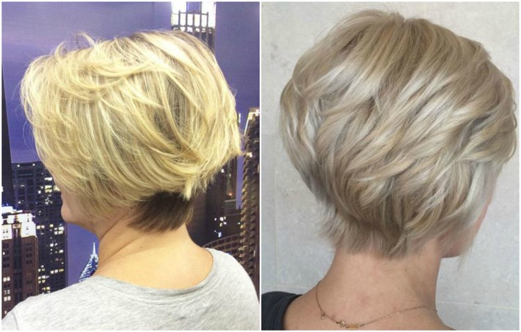 Frisuren 50 plus kurz Stufenschnitt modern
