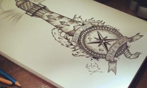 Leuchtturm Tattoo Bedeutung und Design Ideen