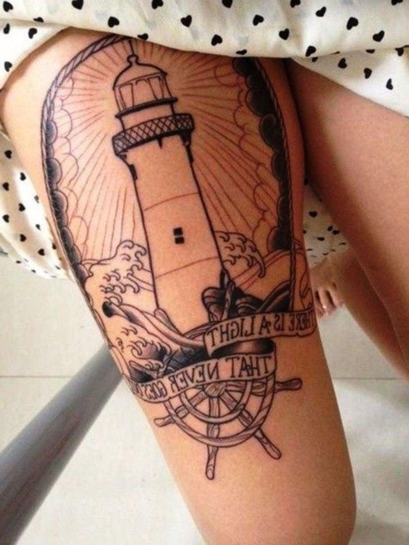 Leuchtturm Tattoo Design Ideen Frauen Tattoos