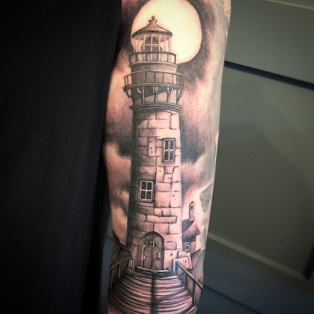 Leuchtturm Tattoo Design Ideen Männer Tattoos