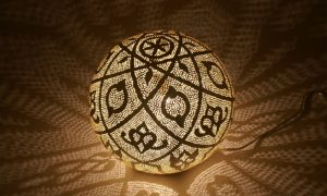 orientalische Lampen rund Metall herrlicher Look