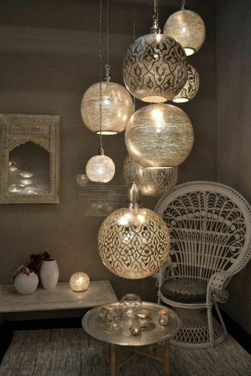 orientalische Lampen Metall Lampenschirme hängend