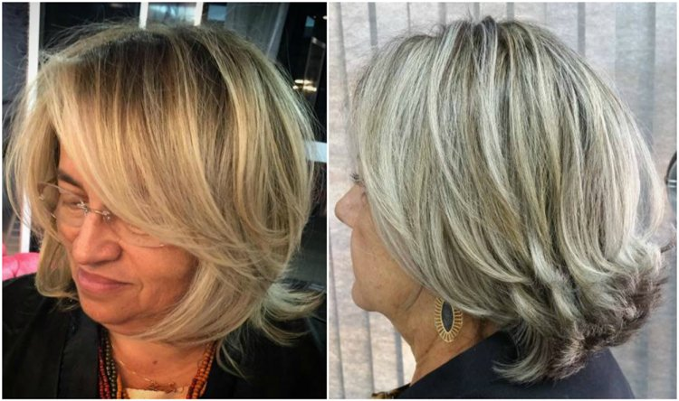 Frisuren 50 plus Pony schräg