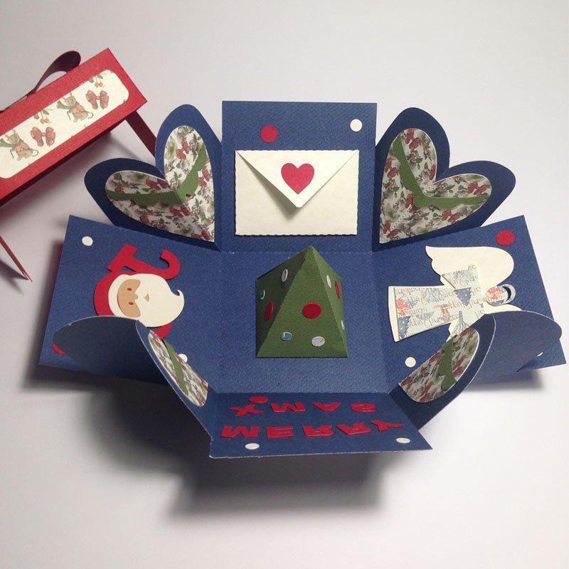 Mit Papier Basteln Weihnachten: DIY Explosionbox