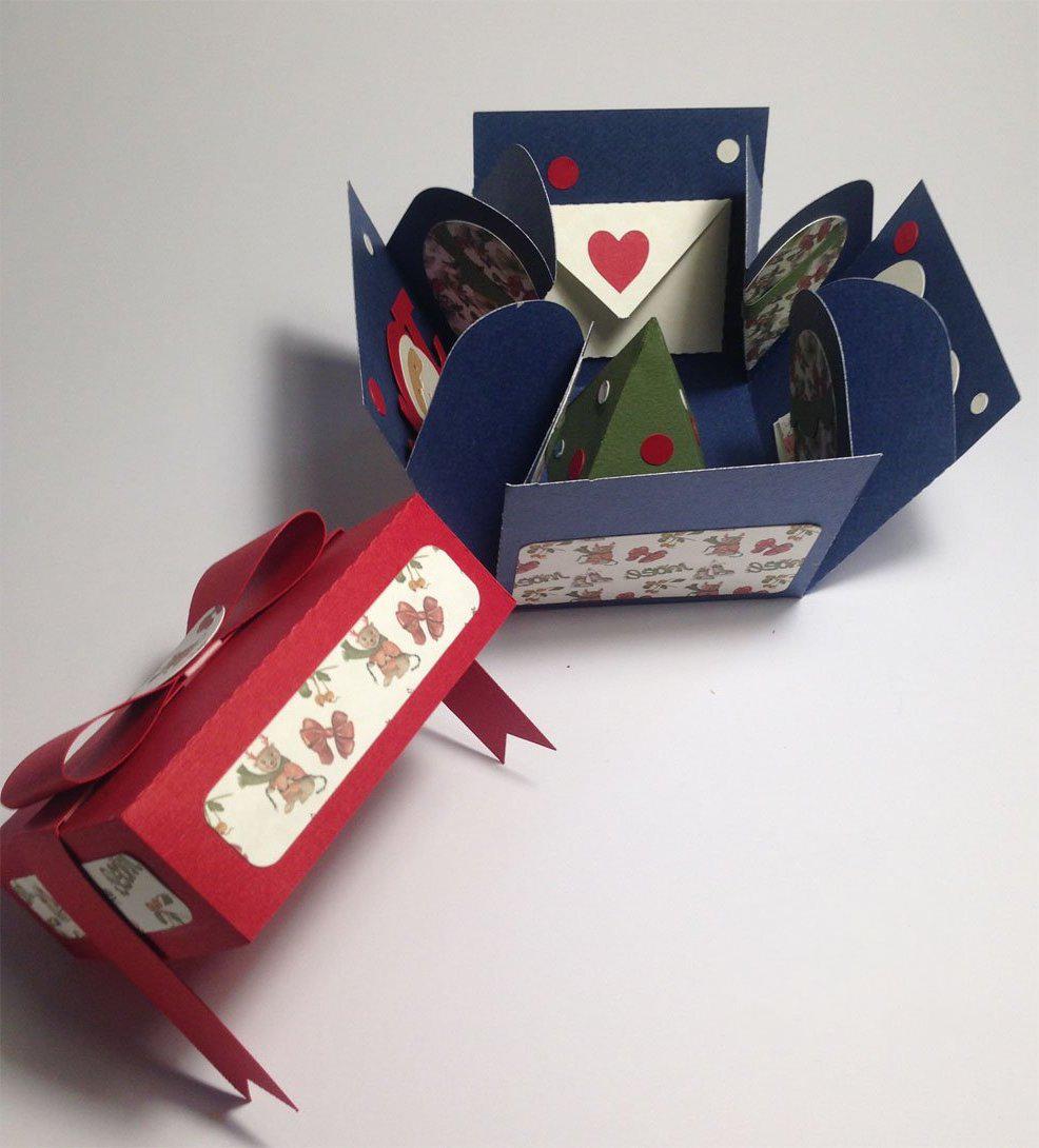 Viele tolle Ideen füroriginelle Weihnachtsgeschenke selber machen: Einfache Explosionbox