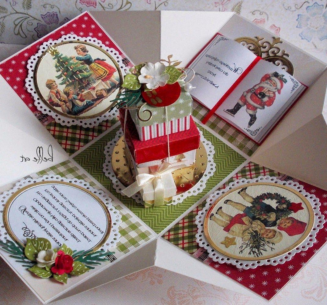 Originelle Weihnachtsgeschenke selber machen: Explosionbox mit kleinen Geschenken
