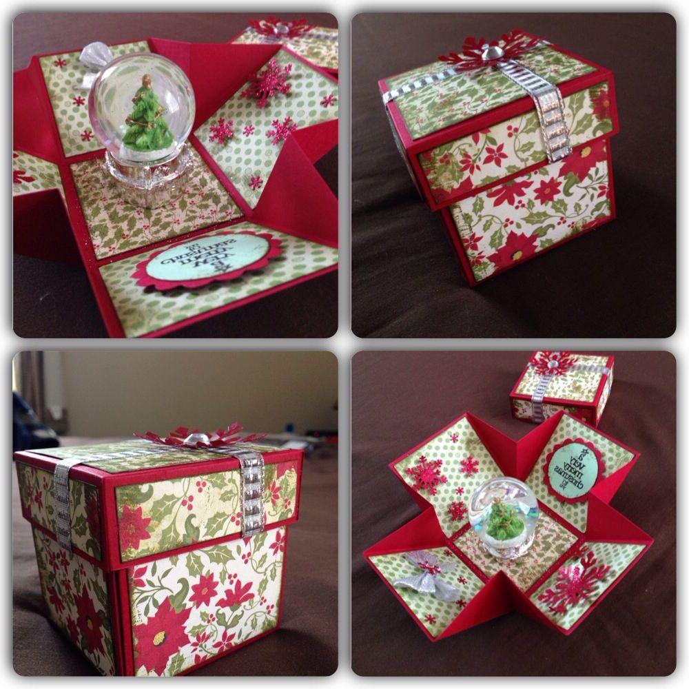 Tolle Weihnachtsgeschenke Ideen zum Nachmachen: Explosionbox mit Weihnachtskugel