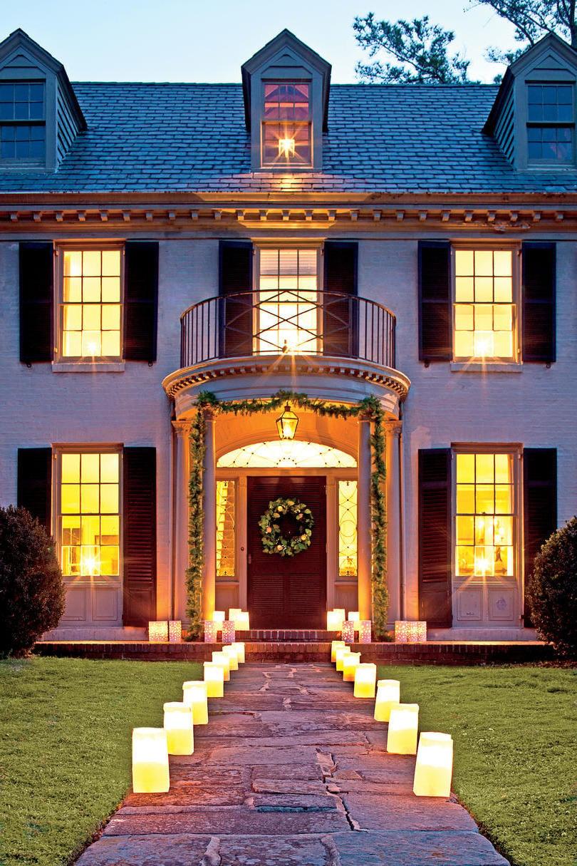 Eingang Tür weihnachtlich dekorieren - Pinterest Weihnachtsdeko