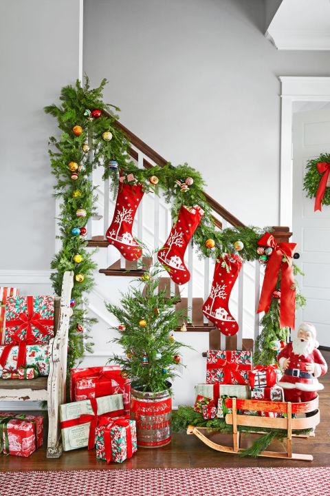 Treppen weihnachtlich dekorieren - Pinterest Weihnachtsdeko Ideen