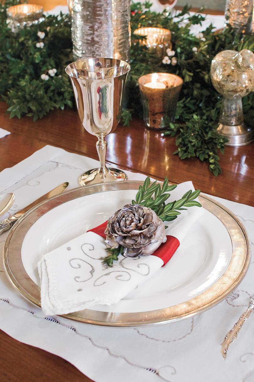 Tischdekoration für Weihnachtsdeko festlich gestalten