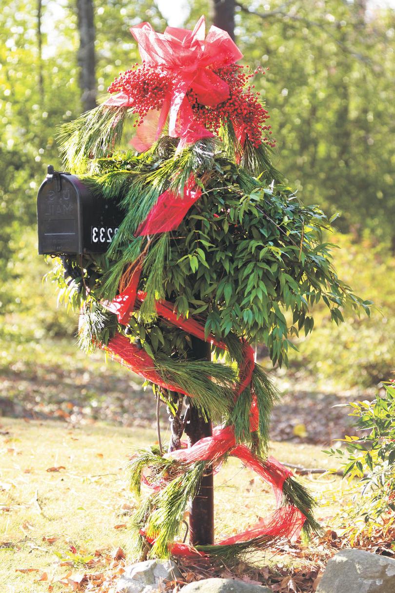 Pinterest Weihnachtsdeko - Postkasten weihnachtlich dekorieren