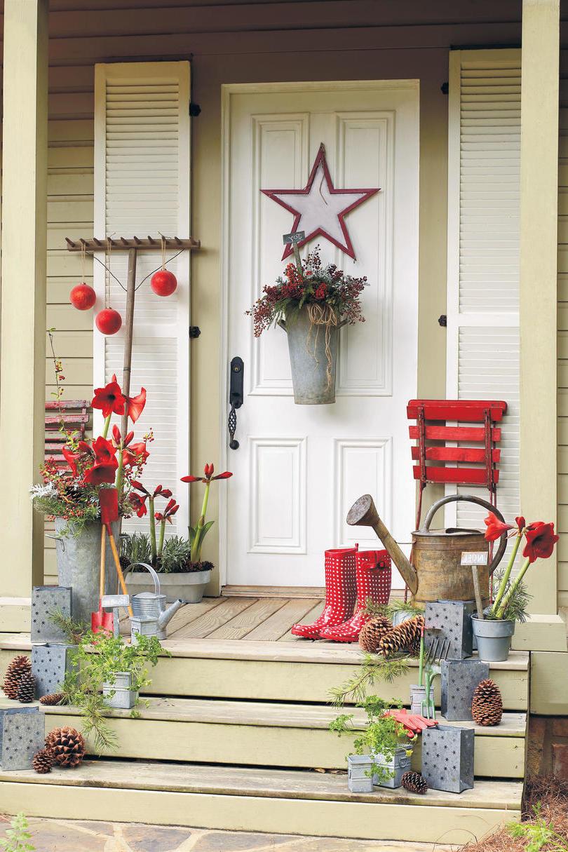 Weihnachtsdeko Ideen für den Eingang