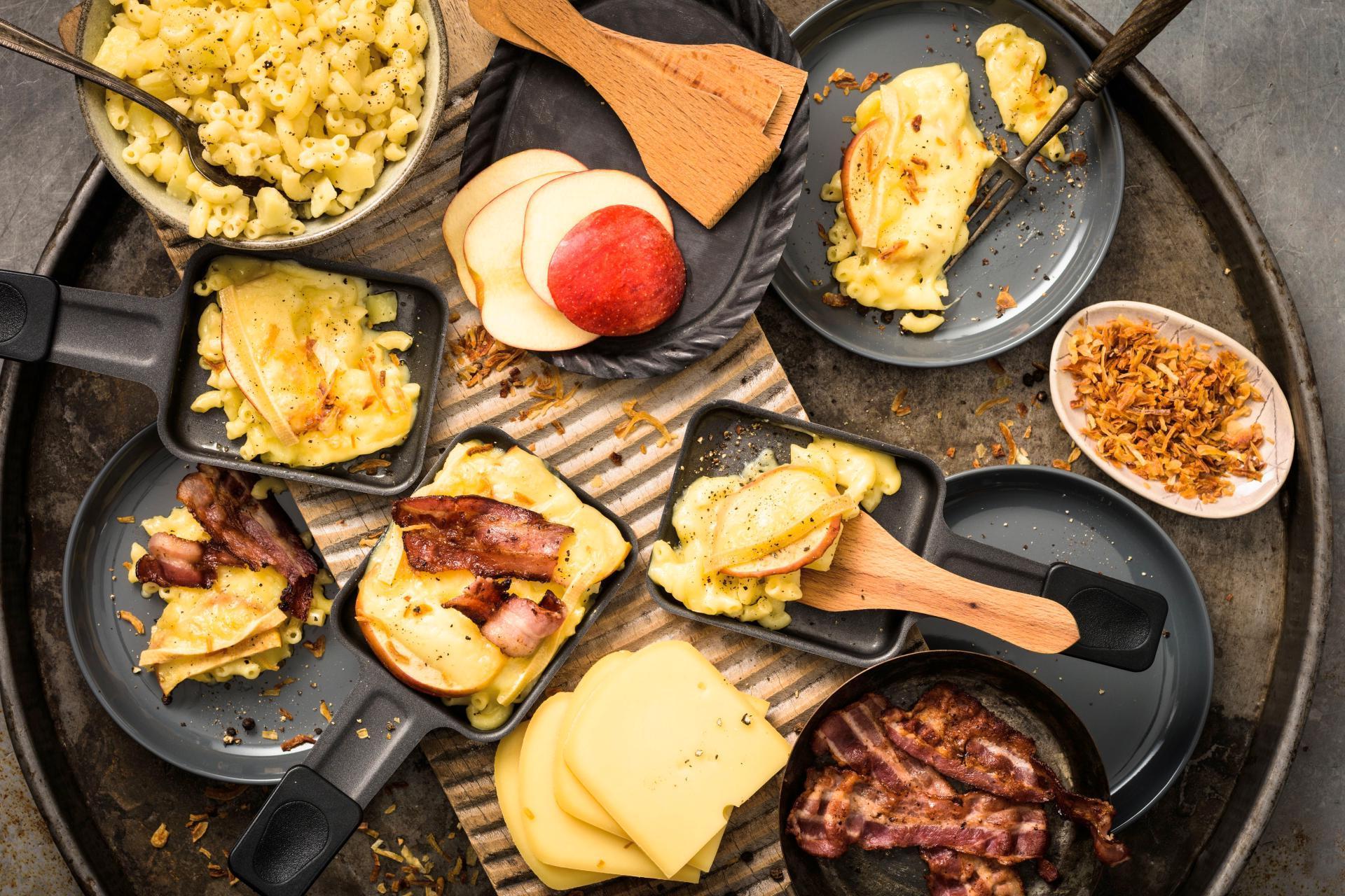 Raclette Zutatenliste für einen Raclette Abend für 4 Personen