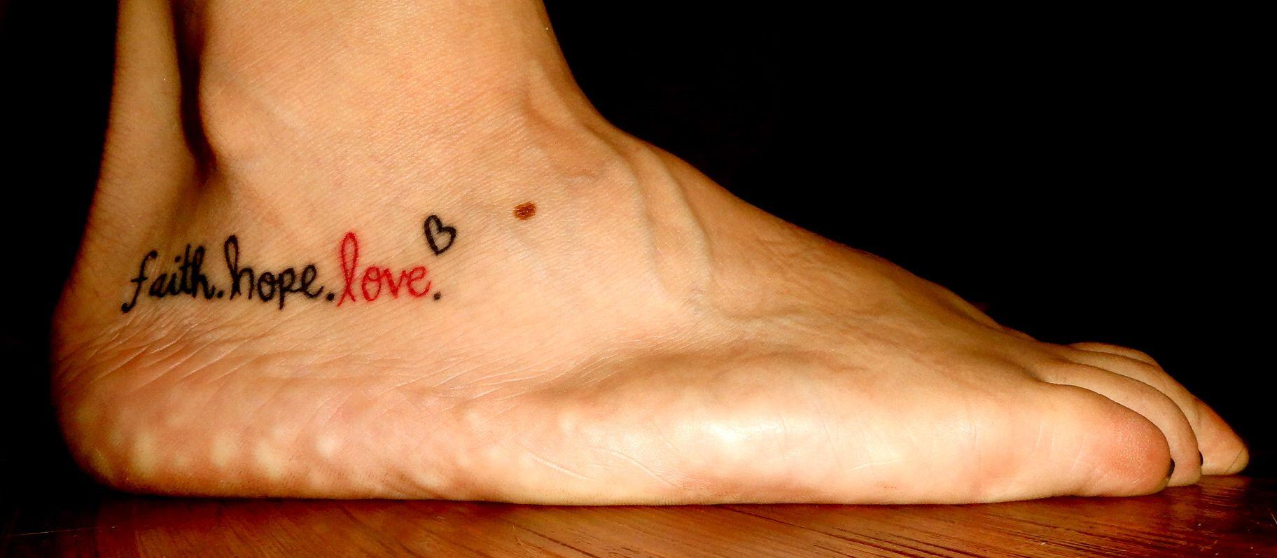Tattoo Glaube Liebe Hoffnung Ideen