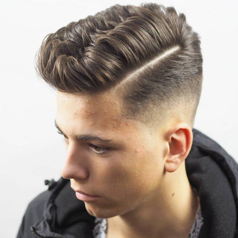 Seitenscheitel richtig stylen tief elegant moderne Frisur
