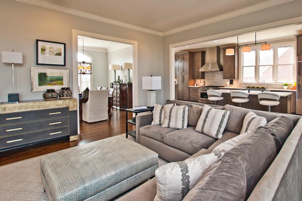 Tolle Wohnzimmer Ideen: Graue Einrichtung