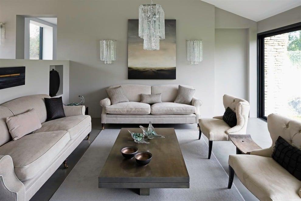 Das Wohnzimmer Grau malen