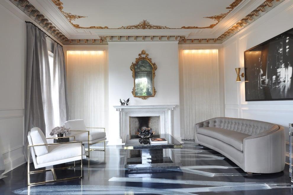 Tolle Ideen für wunderschöne dekorative Akzente, wenn Ihr Wohnzimmer Grau ist.