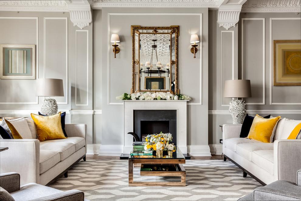 Das Wohnzimmer Grau machen: 101 Ideen für einen modernen ...