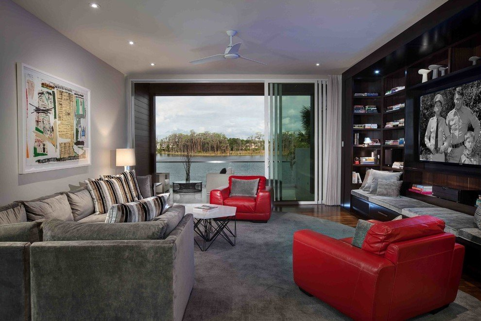 Dunkle Grautöne für ein modernes Wohnzimmer