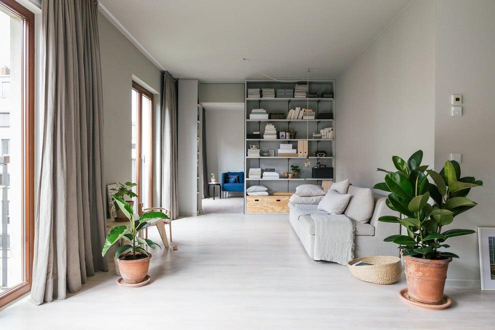 Dezente Grautöne im Wohnzimmer für eine gemütliche Wirkung