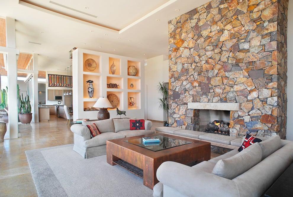 40 Coole Wohnzimmer Ideen in Grau