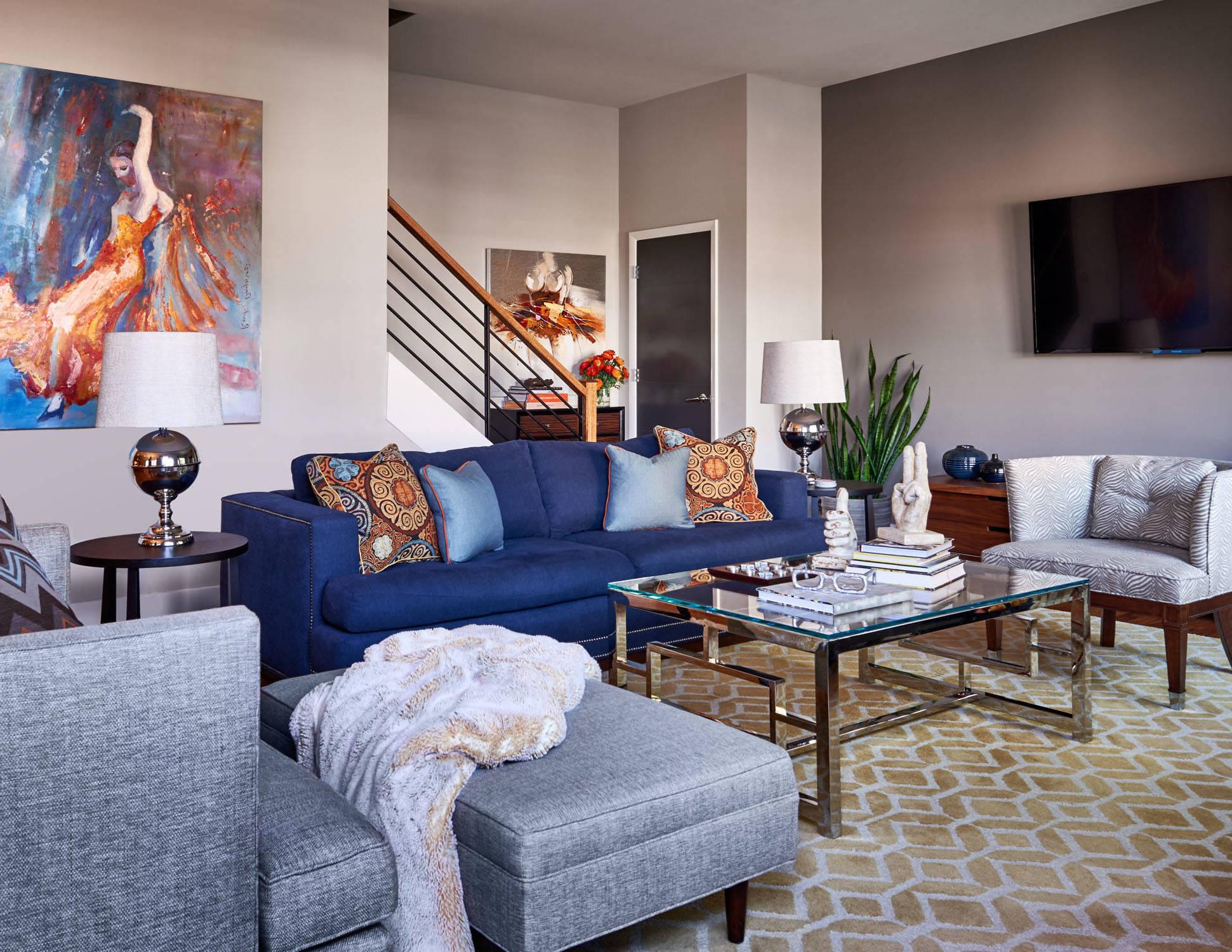 Tolle Wohnzimmer Ideen in Grau