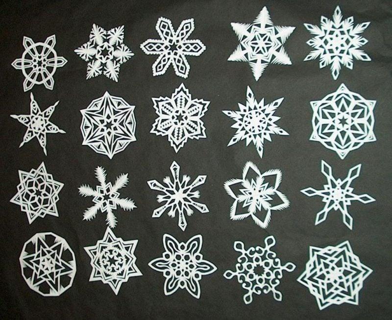 Schneeflocken basteln eindrucksvolle Ideen