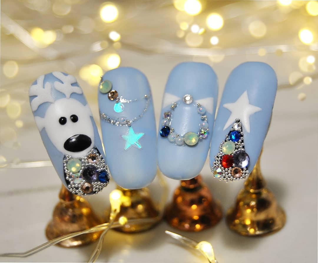 Nageldesign Weihnachten Ideen für Nageldesign Winter