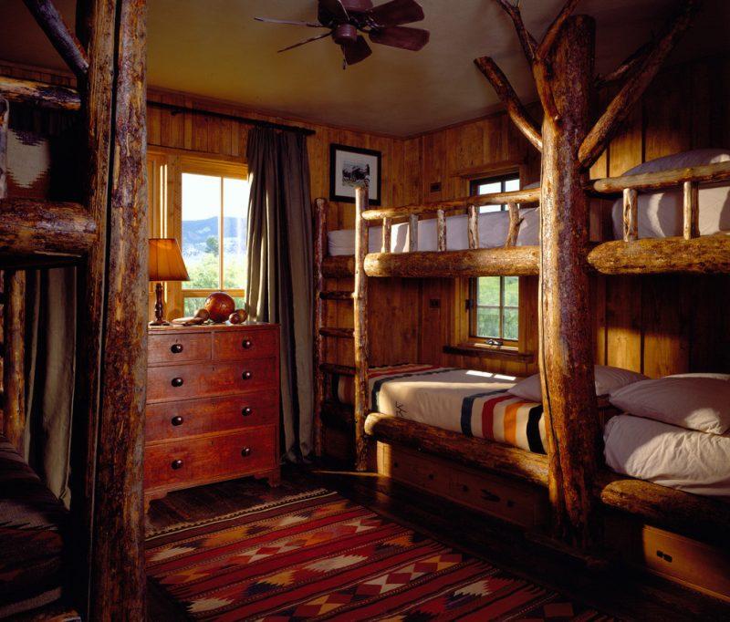 Chalet Schlafzimmer Kinder Etagenbett