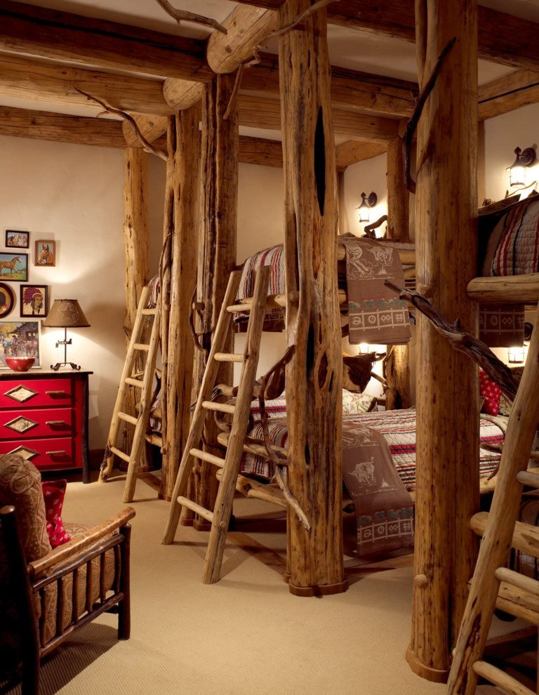 Chalet Schlafzimmer Holz Etagenbett