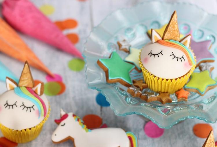 Einhorn Muffins DEko Lebkuchen Kindergeburtstag