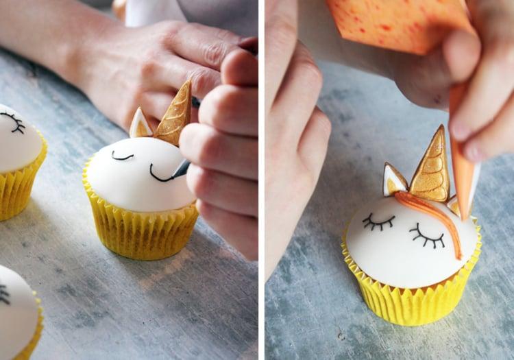 Einhorn Muffins verzieren Ideen und Tipps