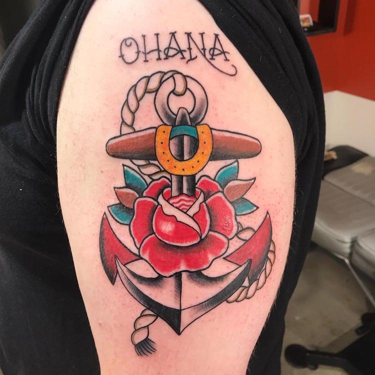 Ohana Tattoo Anker Rose