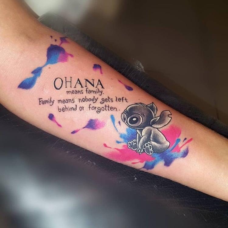 ohana tattoo ein herrliches symbol von familie und. Black Bedroom Furniture Sets. Home Design Ideas