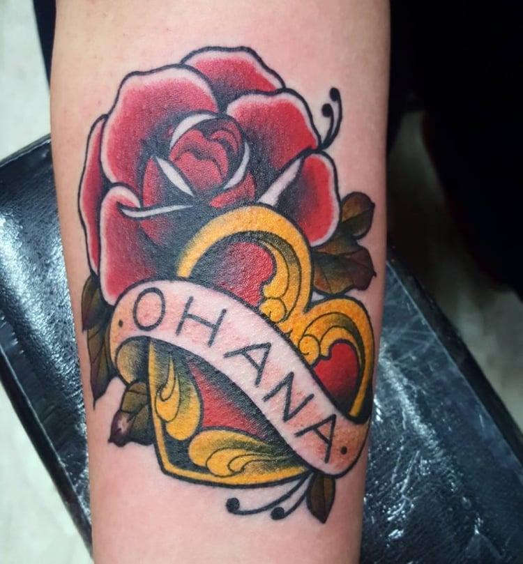 Ohana Tattoo mit anderen Motiven kombinieren