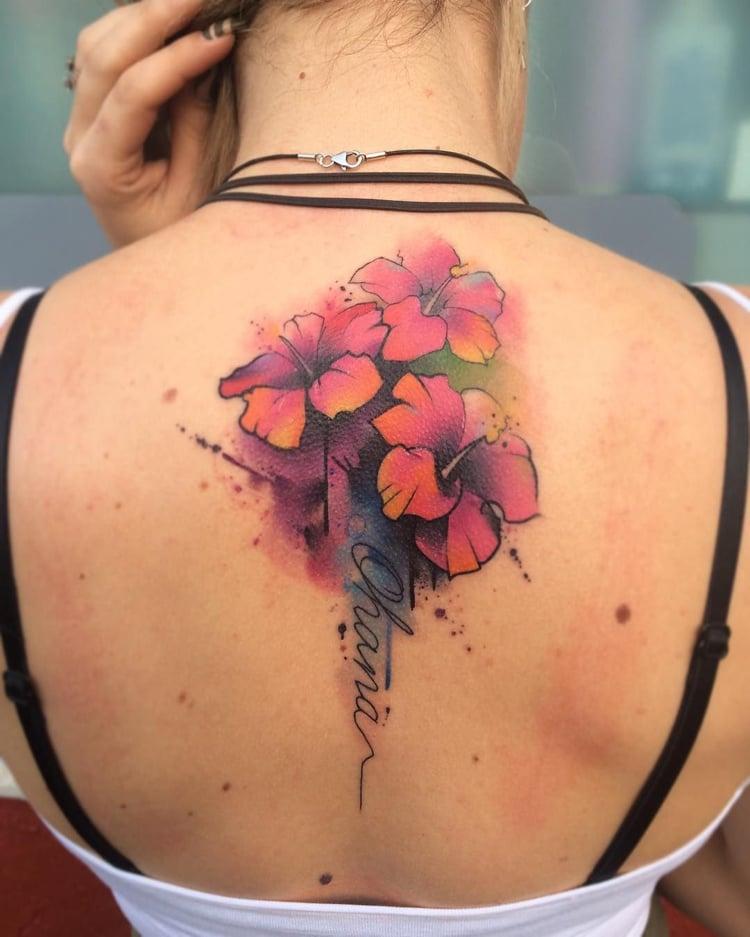 Ohana Tattoo groß Rücken