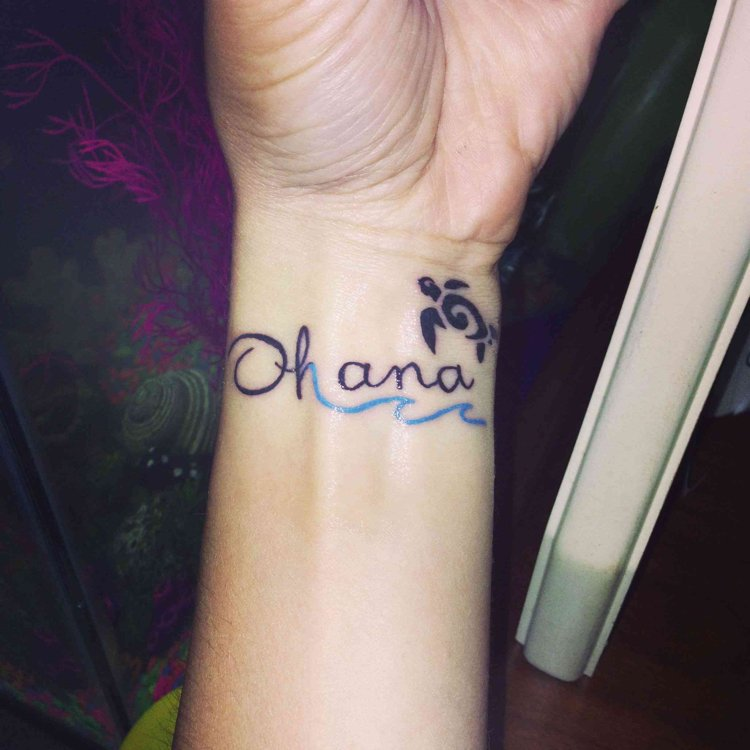 Ohana Tattoo originell Schildkröte
