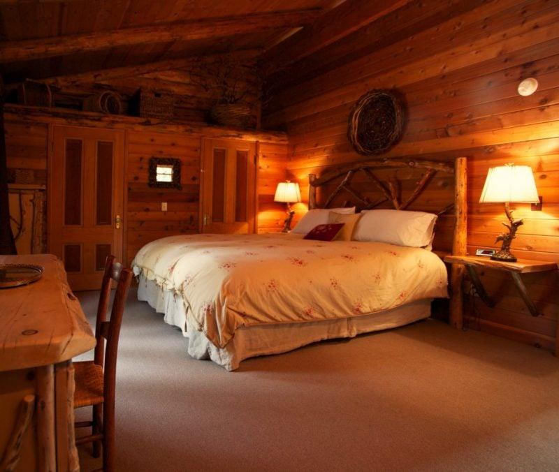 Chalet Schlafzimmer romantisches Ambiente
