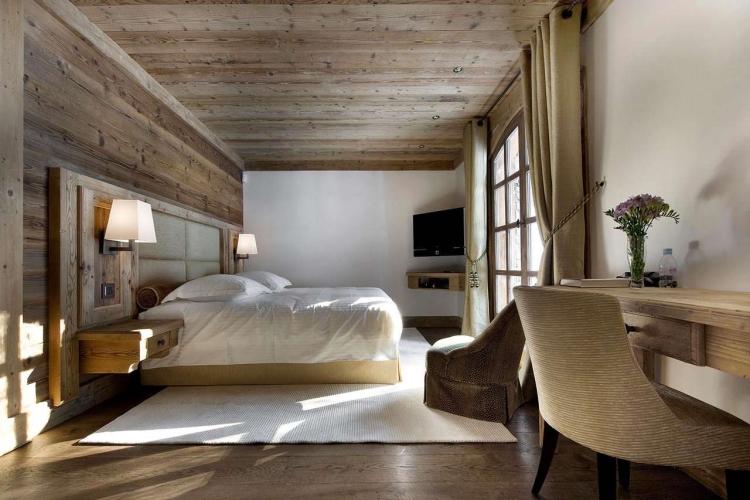 Chalet Schlafzimmer stilvoll neutrale Farben