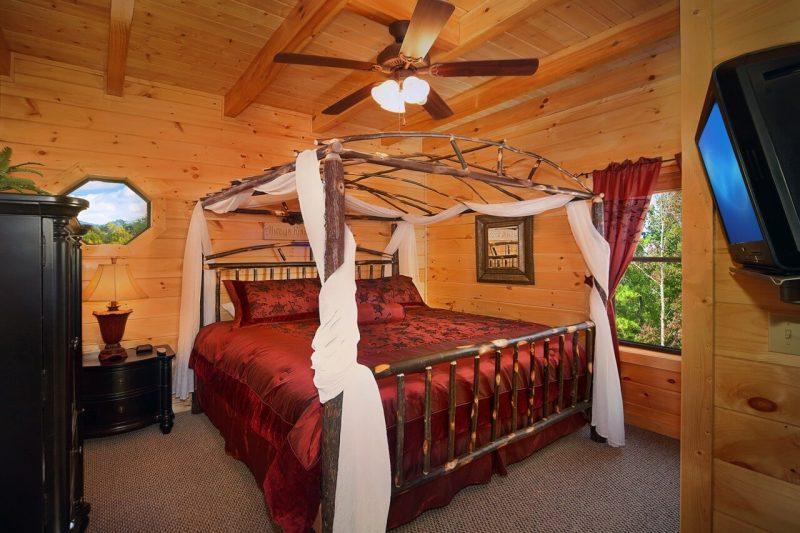 Chalet Schlafzimmer romantisches Himmelsbett