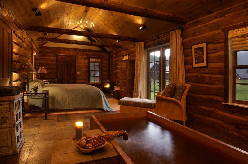 Chalet Schlafzimmer Einrichutg authentisch herrlicher Look