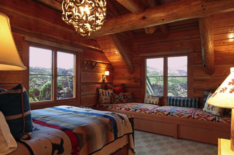 Chalet Schlafzimmer Sitzecke gemütlich