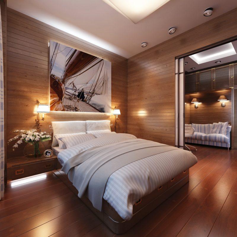 Chalet Schlafzimmer moderne Einrichtung