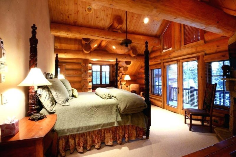 Chalet Schlafzimmer Naturmaterialien Massivholz