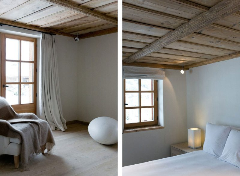 Chalet Schlafzimmer Farbschema neutral